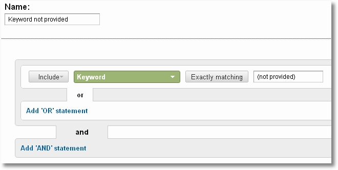 keyword advanced segment